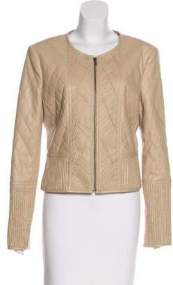 BCBGMAXAZRIA Vegan Leather Structured Jacket