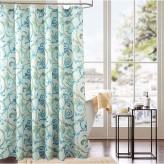 RT Designers Collection Classic Tile 70 x 72 in. Printed Shower Curtain