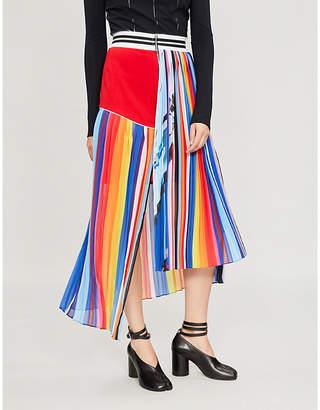 Fyodor Golan Glider striped stretch-jersey skirt
