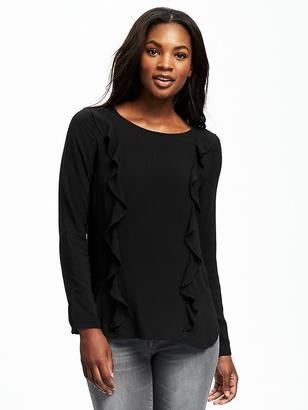 Classic Ruffle-Top Blouse for Women $26.94 thestylecure.com