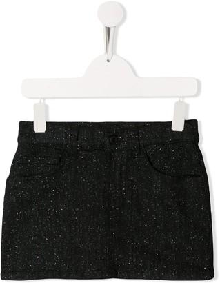 Dondup Kids glitter straight skirt