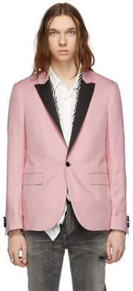 Amiri Pink Zebra Scarf Blazer