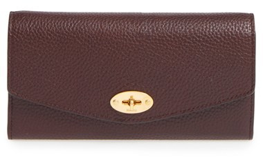 MulberryWomen's Mulberry 'Postman's Lock' Leather Wallet - Burgundy