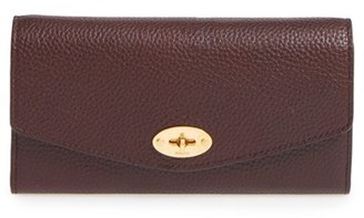 Women's Mulberry 'Postman's Lock' Leather Wallet - Burgundy $495 thestylecure.com