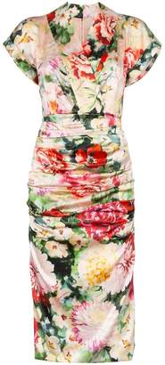 Dolce & Gabbana Floral print V-neck silk blend midi dress