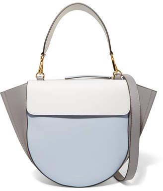 Hortensia Wandler Medium Color-block Leather Shoulder Bag - Light blue