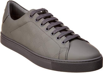 Burberry Perforated Check Leather Sneaker