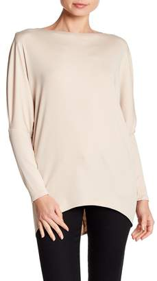 FAVLUX Drop Shoulder Hi-Lo Hem Blouse