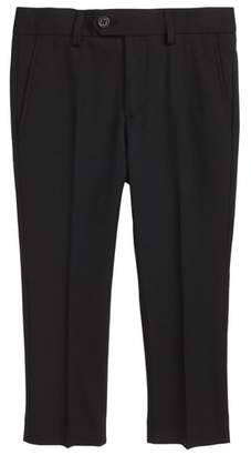 Blend of America Tallia Solid Wool Flat Front Trousers