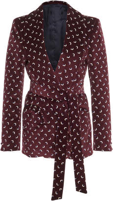Blazé Milano Constellation Belted Velvet Blazer