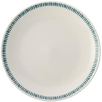 Rachael Ray Cucina Sun Daisy Dinnerware 10.75-Inch Agave Blue Stoneware Dinner Plate