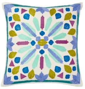Buy Bluebellgray Lola Embroidered Cotton Pillow!