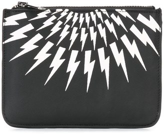 Neil Barrett 'Thunder' zip coin pouch $248.68 thestylecure.com