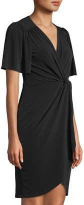 Catherine Malandrino V-Neck Twisted-Front Dress