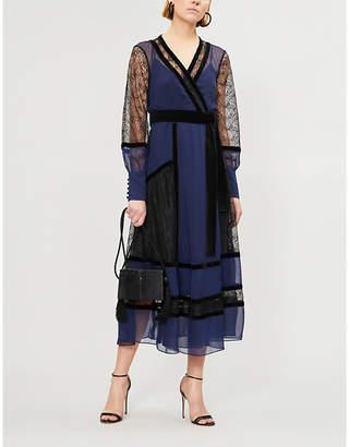Diane von Furstenberg Forrest silk and velvet wrap dress