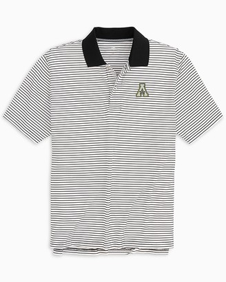 Southern Tide App State Mountaineers Pique Striped Polo Shirt
