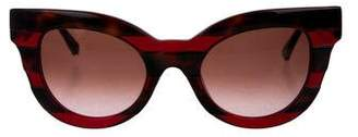 Cat Eye Kate Young x Tura Tortoiseshell Cat-Eye Sunglasses