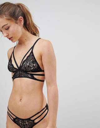 New Look Strapping Lace Bralette