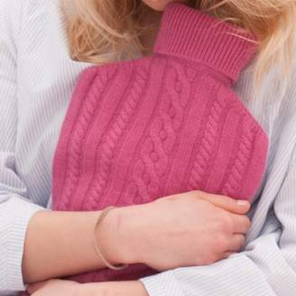Plum & Ivory Cashmere Hot Water Bottle Cover