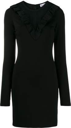 RED Valentino ruffle collar mini dress