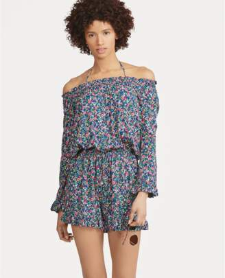 Polo Ralph Lauren Floral Off-The-Shoulder Romper