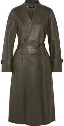 Joseph Solferino Oversized Leather Trench Coat - Army green
