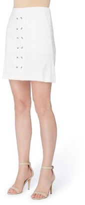 Women's Catherine Catherine Malandrino Arry Lace-Up Skirt $78 thestylecure.com