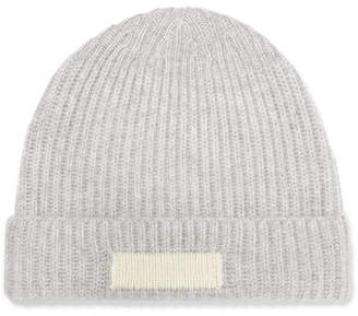 708e741fb6f RE DONE Ribbed Cashmere Beanie - Gray