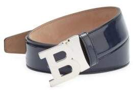 Bally Patent Leather B Buckle Belt
