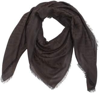 Fendi Ff Signature Cotton & Wool Blend Scarf