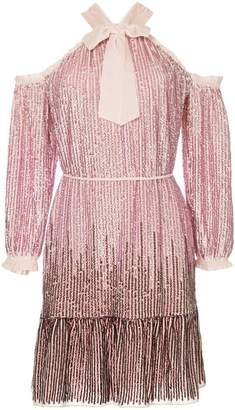 Needle & Thread Kaleidoscope sequin mini dress
