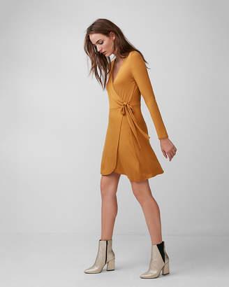 Express Long Sleeve Wrap Dress