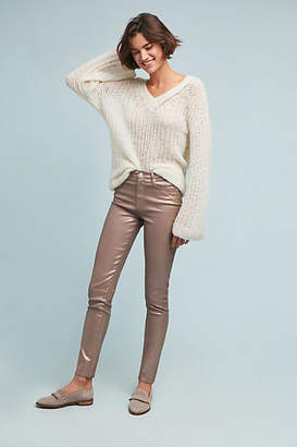 Ella Moss Pearlized High-Rise Skinny Ankle Jeans