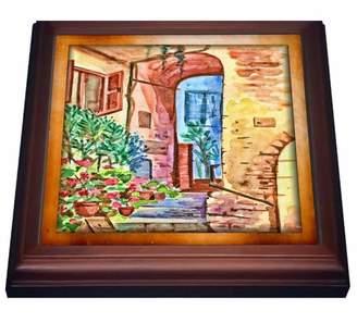 3dRose Italian Yard, Trivet with Ceramic Tile, 8 by 8-inch