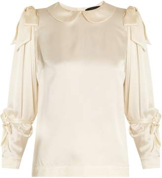 Simone Rocha Bow-tied satin blouse