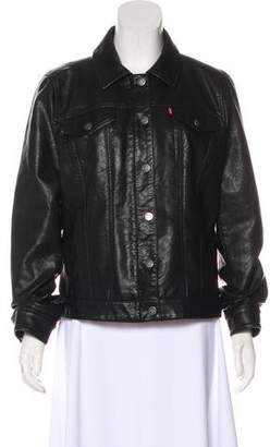 Levi's Faux Leather Button-Up Jacket
