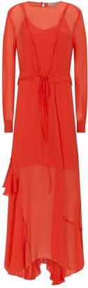 Preen Line Brea Ruffled Lace-Trim Maxi Dress