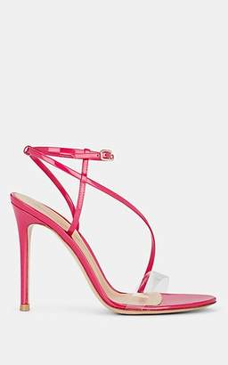 Gianvito Rossi Women's Patent Leather & PVC Ankle-Strap Sandals - Md. Pink
