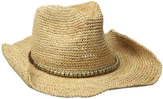Physician Endorsed Women's Sierra Crochet Raffia Sun Hat with Gold Shimmer