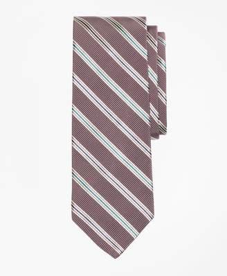 Brooks Brothers Mogador Two-Tone Alternating Split Stripe Tie