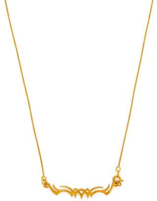 Alan Crocetti - Tribal Gold Plated Sterling Silver Necklace - Mens - Gold