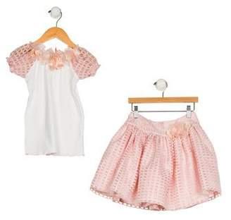 Lesy Girls' Embroidered Skirt Set