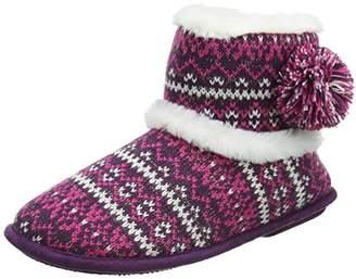 Isotoner Women''s Fair Isle Mule Slippers Hi-Top,37 EU