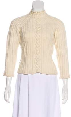 Post Card Wool Cable Knit Sweater