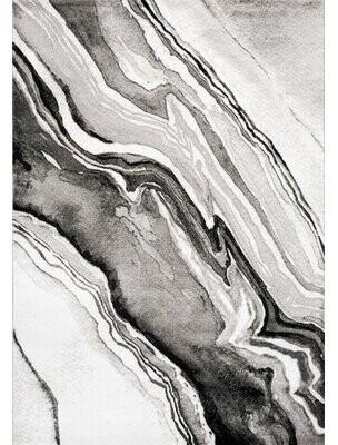 Trent Austin Design Arden Natural Wood Pattern Gray/Black Area Rug Trent Austin Design