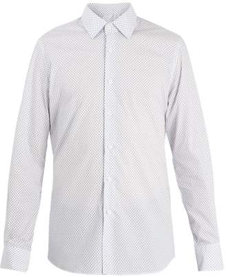 Prada Slim-fit star-print cotton shirt