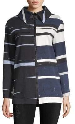 Akris Abstract-Print Cotton Jacket
