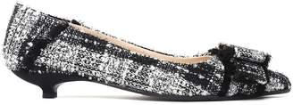 Anna Baiguera Annavera Crystal-embellished Boucle Ballet Flats