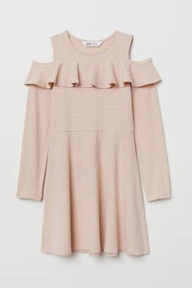 H&M Open-shoulder Dress - Orange