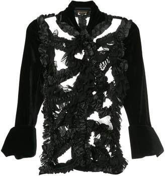 Comme des Garcons Pre-Owned ruffle dissected jacket